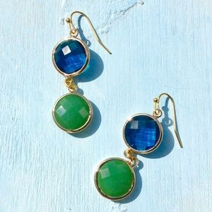 18k Gold Plated Drop Earrings +Anthropologie Bowl